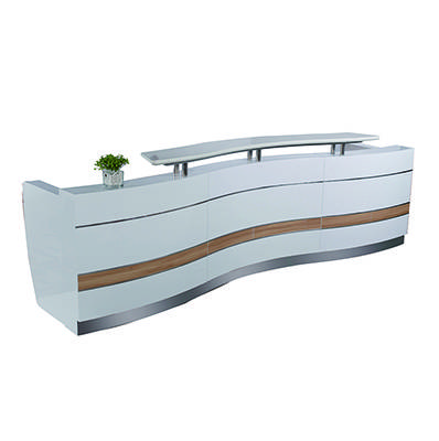 simple design retail dorian vintage marble reception desk stand in dubai QT3310