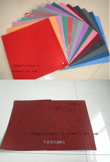 exhibition carpet ( plain stripe film-coated )