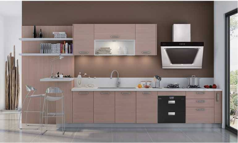 Breeza,China Natural Style Man made Stone Kitchen Cabinet with Italy Design