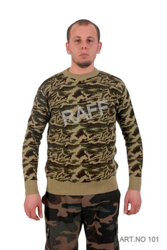 Army Camouflage Sweater Wool-Acylic / Chandail Militaire Camouflage Laine - Acrylic