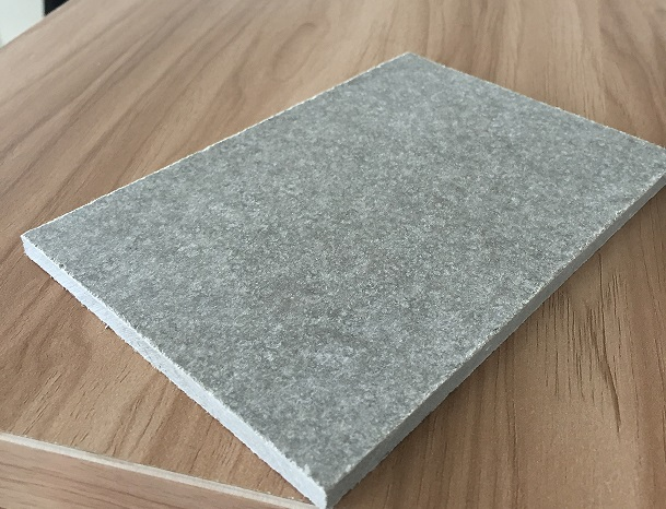 polished Dark Gray fiber cement board