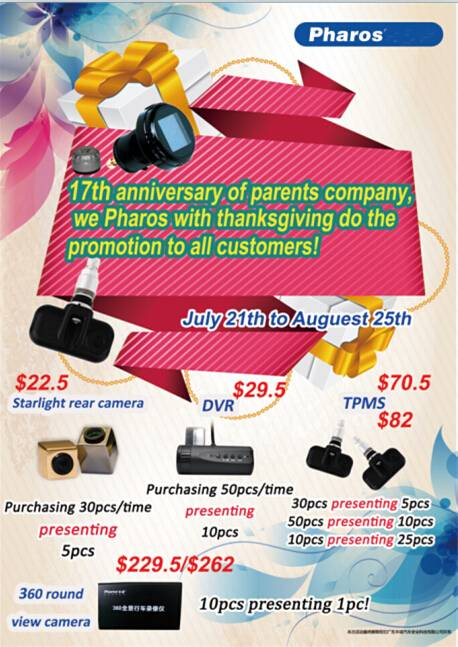 Promotion - TPMS /Rear camera/ DVR/ for automobile
