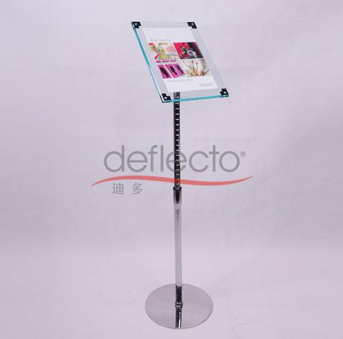 Deflect-o Acrylic Adjustable Sign Holder,330x330x1250(mm)