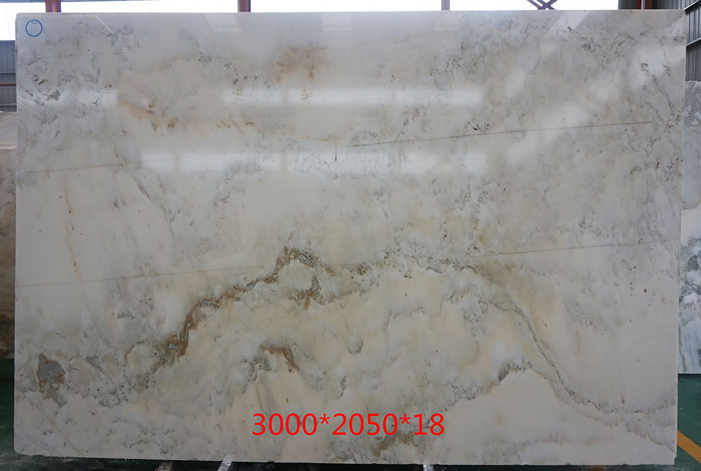 Natural Polished White Marble, Landscape Painting Marble white marble green veins