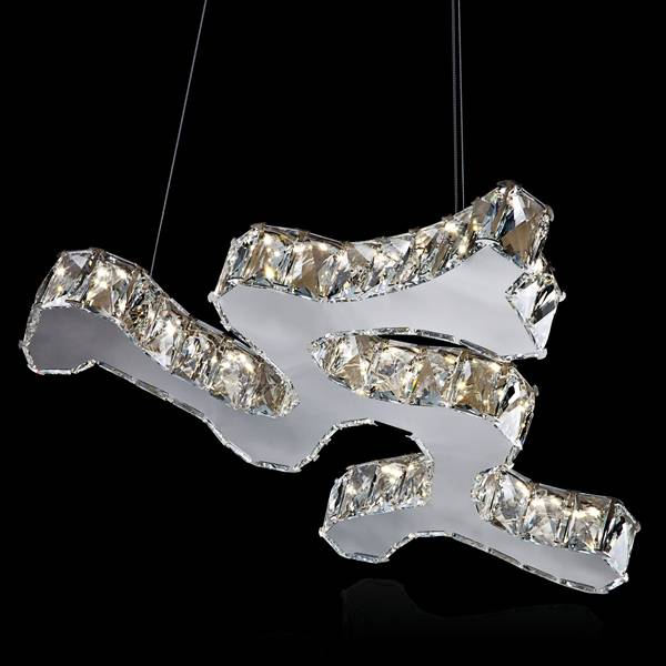 Contemporary crystal pendant light wholesale