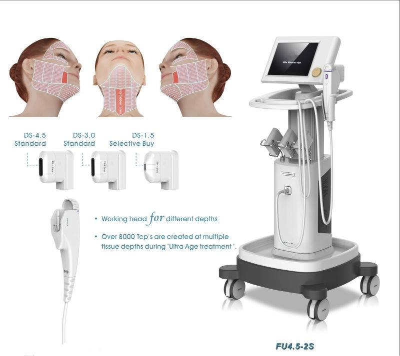 Skin tighten face lifting high intensity focoused ultrasound machine