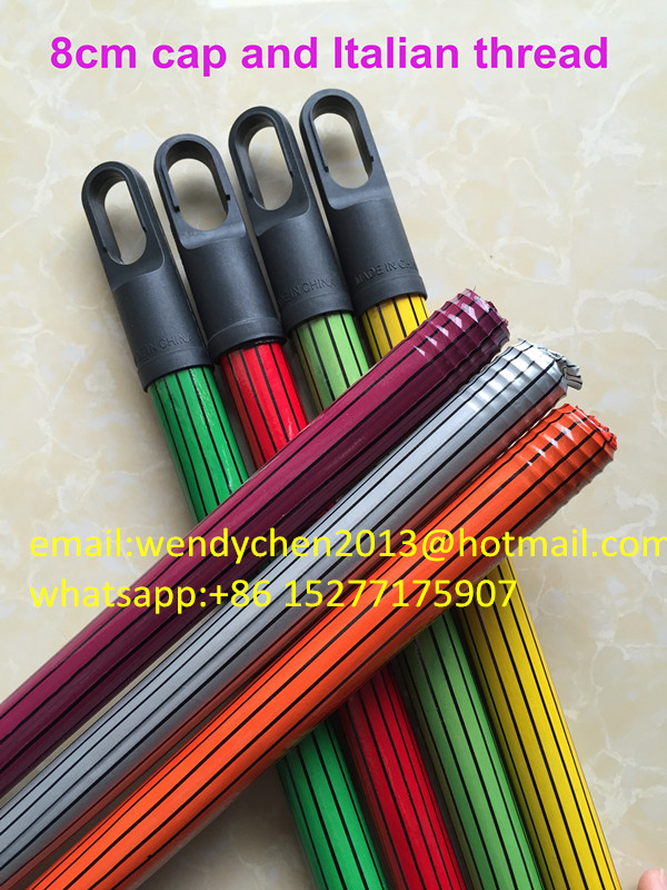 cable pvc type wood broom hand with 7.5cm plastic cap