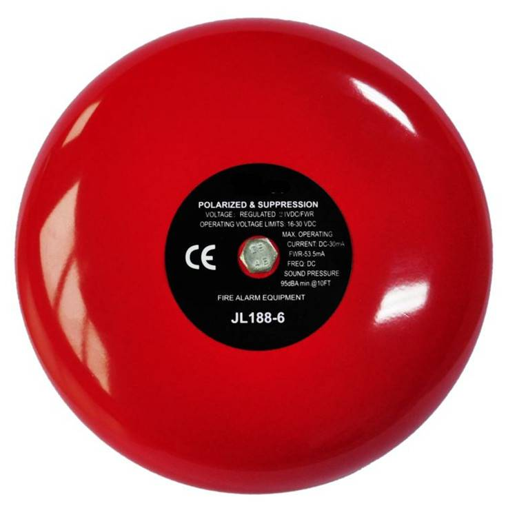 "Hot! 6"" 2 wire 24V fire alarm bell HS-JL188-6 electric bell"