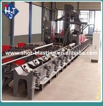QGW External Wall Steel Pipe Shot Blasting Machine /Descaling Machine