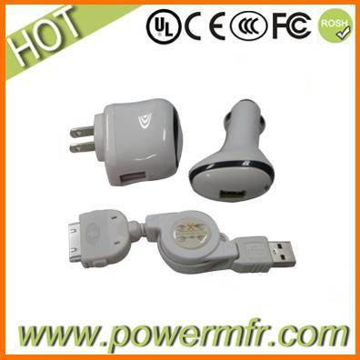 3 in 1 travel charger for iPhone