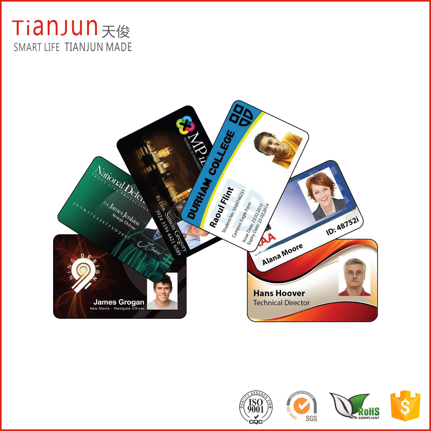 Custom NTAG213 215 NFC Business Card Facebook ID Card