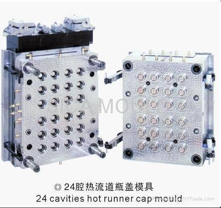 SC 24Cavity Hot Runner  28mm Plastic  Mineral water Cap Mold/Mould/Die