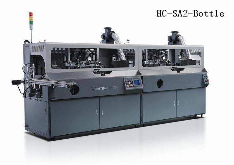 Automatic 2 colours bottle screen printer