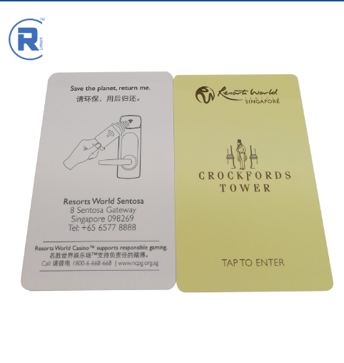 The newest cr80 blank rfid chip cards gold supplier