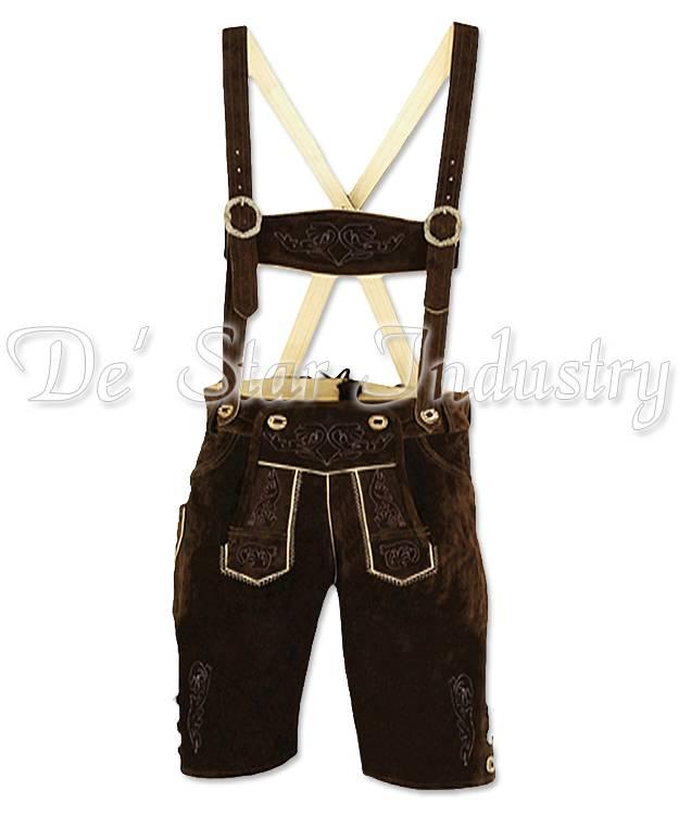 Men Leather Lederhosen Bavarian Costumes