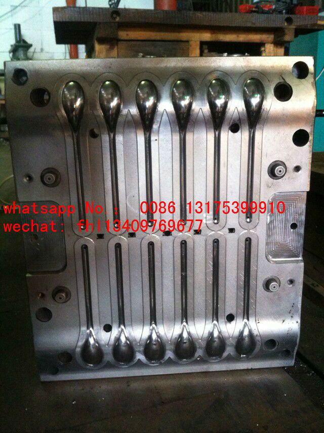 12 cavities long handle spoon molds