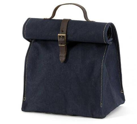 wholesale canvas lunch bag with leather trim/canvas lunch bag/thermal lunch bag/whole foods lunch ba