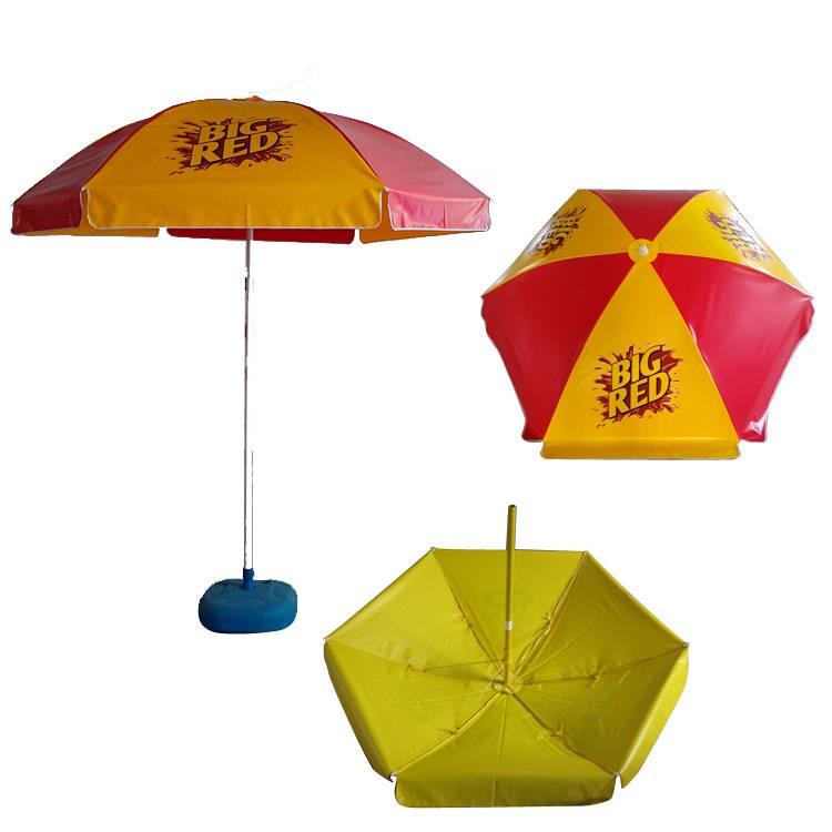 large format vinyl cafe umbrella with full color logo print