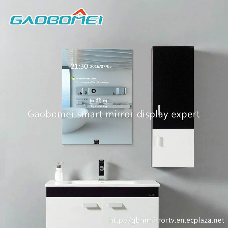 "Gaobomei 22"" AD Smart Mirror digital advertising board magic mirror with ad management software/wifi"