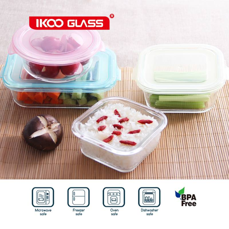 Moden glass food storage for the entire family