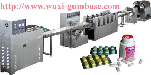 Dragee type of chewing gum production plant