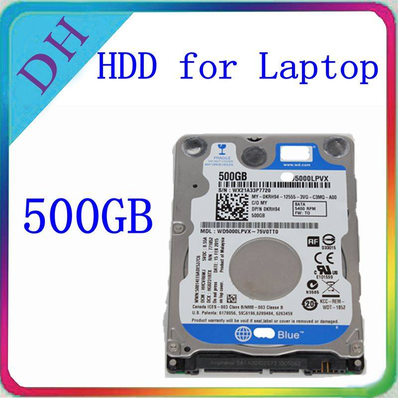 WD Original Laptop hdd 500gb 2.5 SATA hard drive 5400rpm