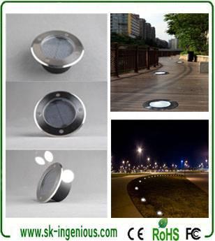 New Design Solar Led Underground Light Ip65 Ce Rohs