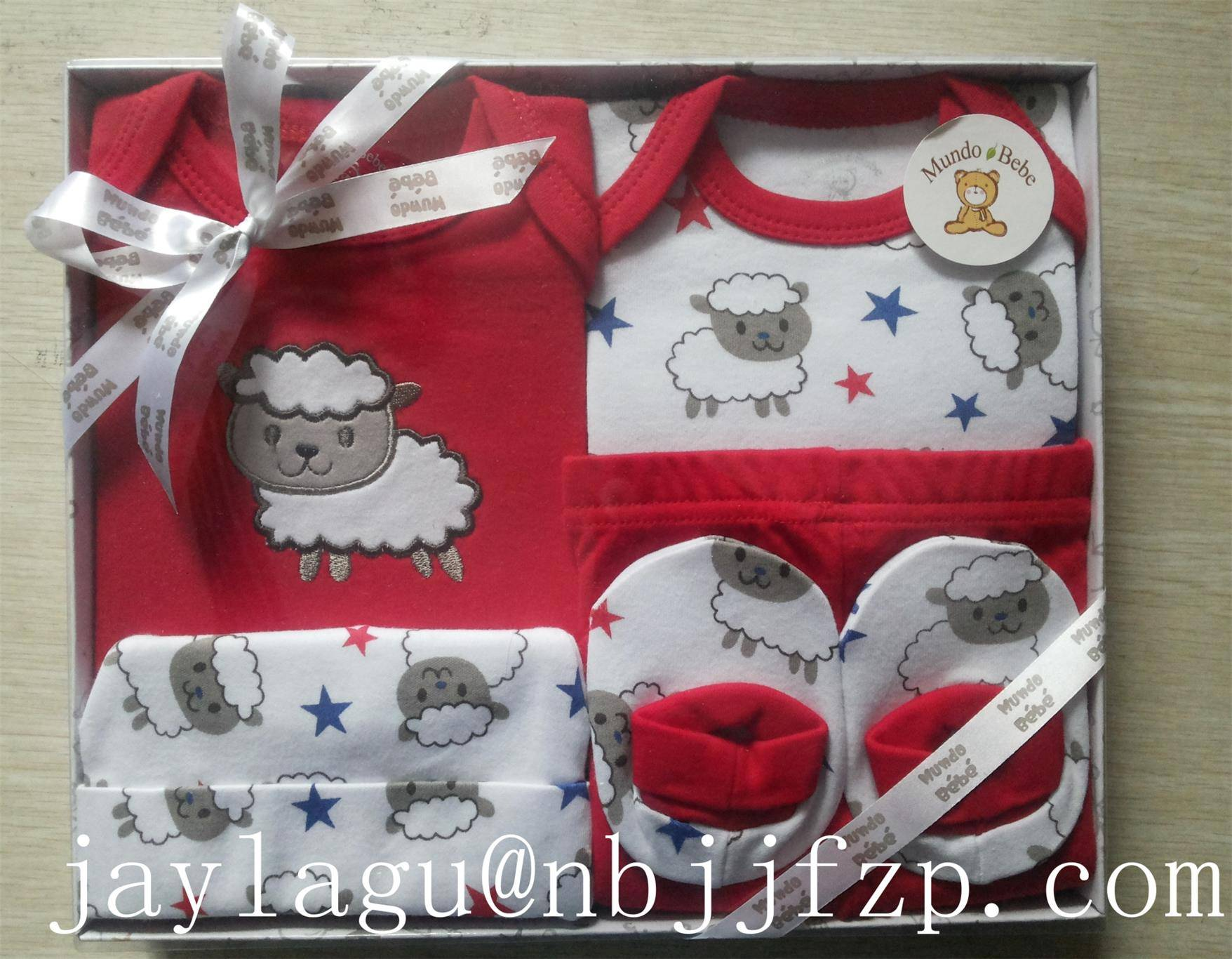 5pcs new born baby gift set/baby clothing set