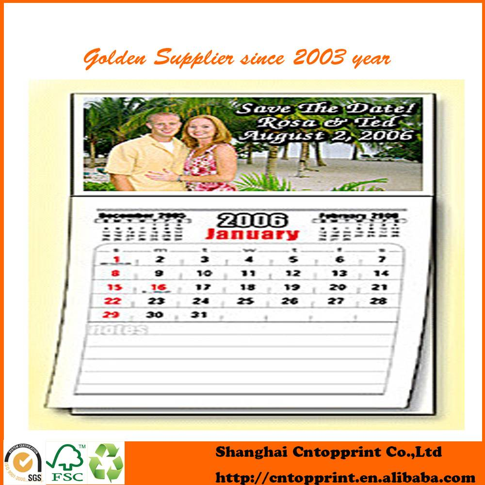 Personal High Quality Printing Photo Magnetic Calendar Pad