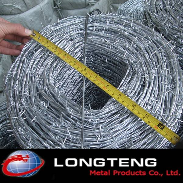 bright surface carbon steel single-strand zinc coated barbed wire