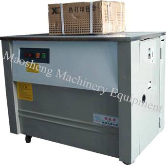 Cord Wrapping Machine packing bottled water, wood briquette