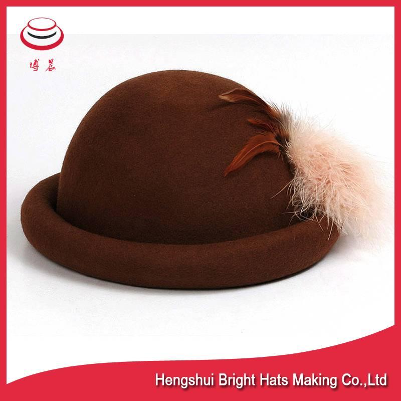 100% wool felt bucket/bowler hats for women