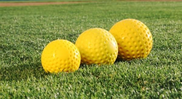"""9 inch Yellow Pitching Machine Baseball Ball, 9"""" Yellow Dimple Pitching Machine Baseball"""