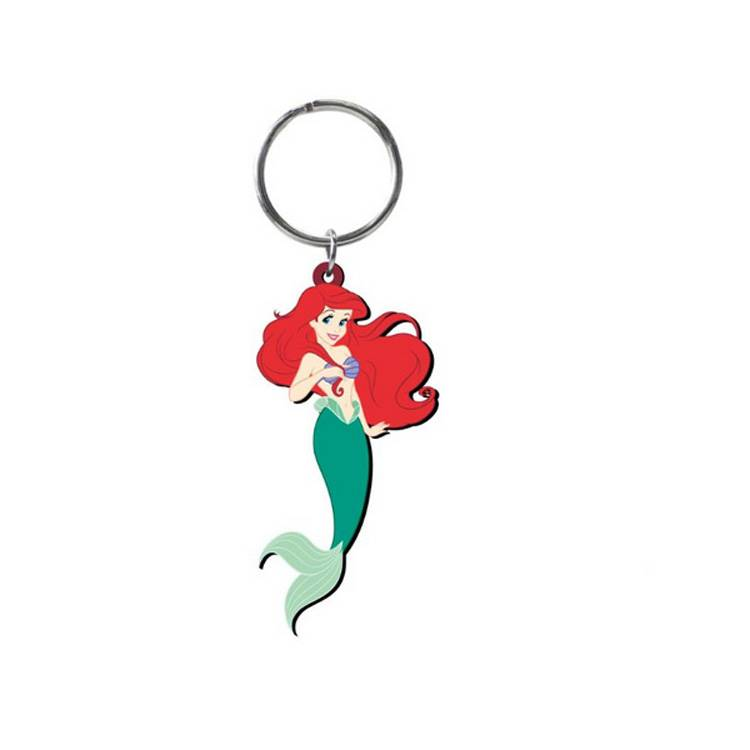 mermaid shape pvc key chain ring for promotion