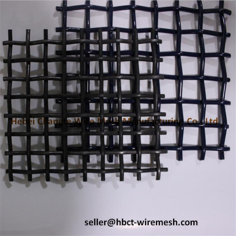 Crimped Woven Wire Mesh , Wire Vibrating Screen Mesh For Stones And Gravels