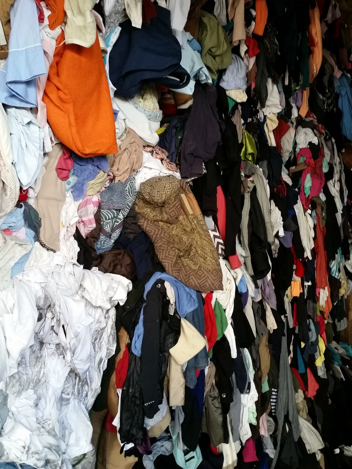 Used winter clothes / garments,