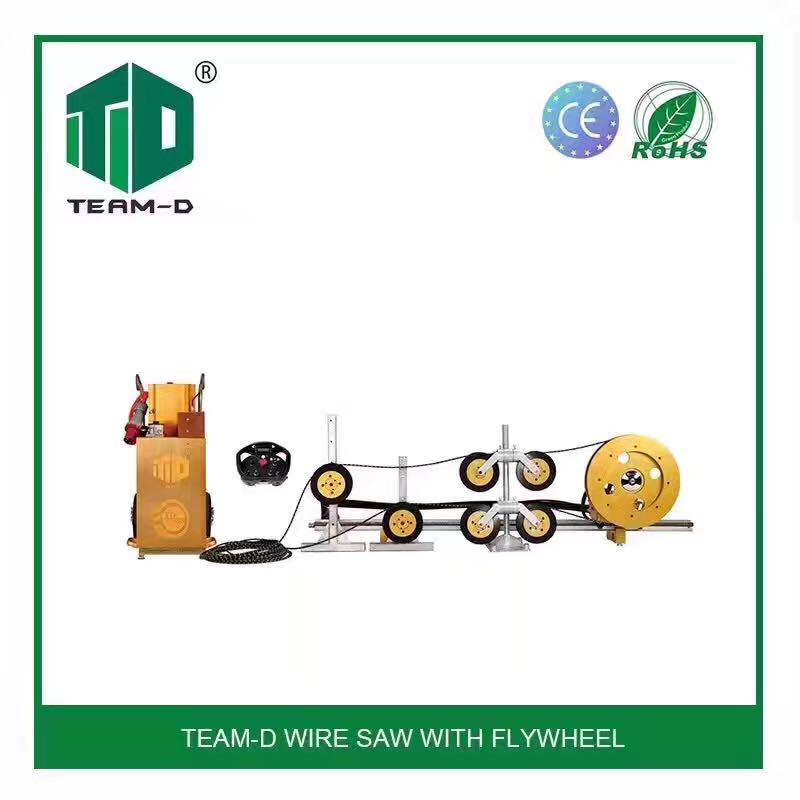 Wire saw machine for cutting reinforced concrete