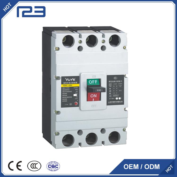 YEM1 plastic casing circuit breaker MCCB