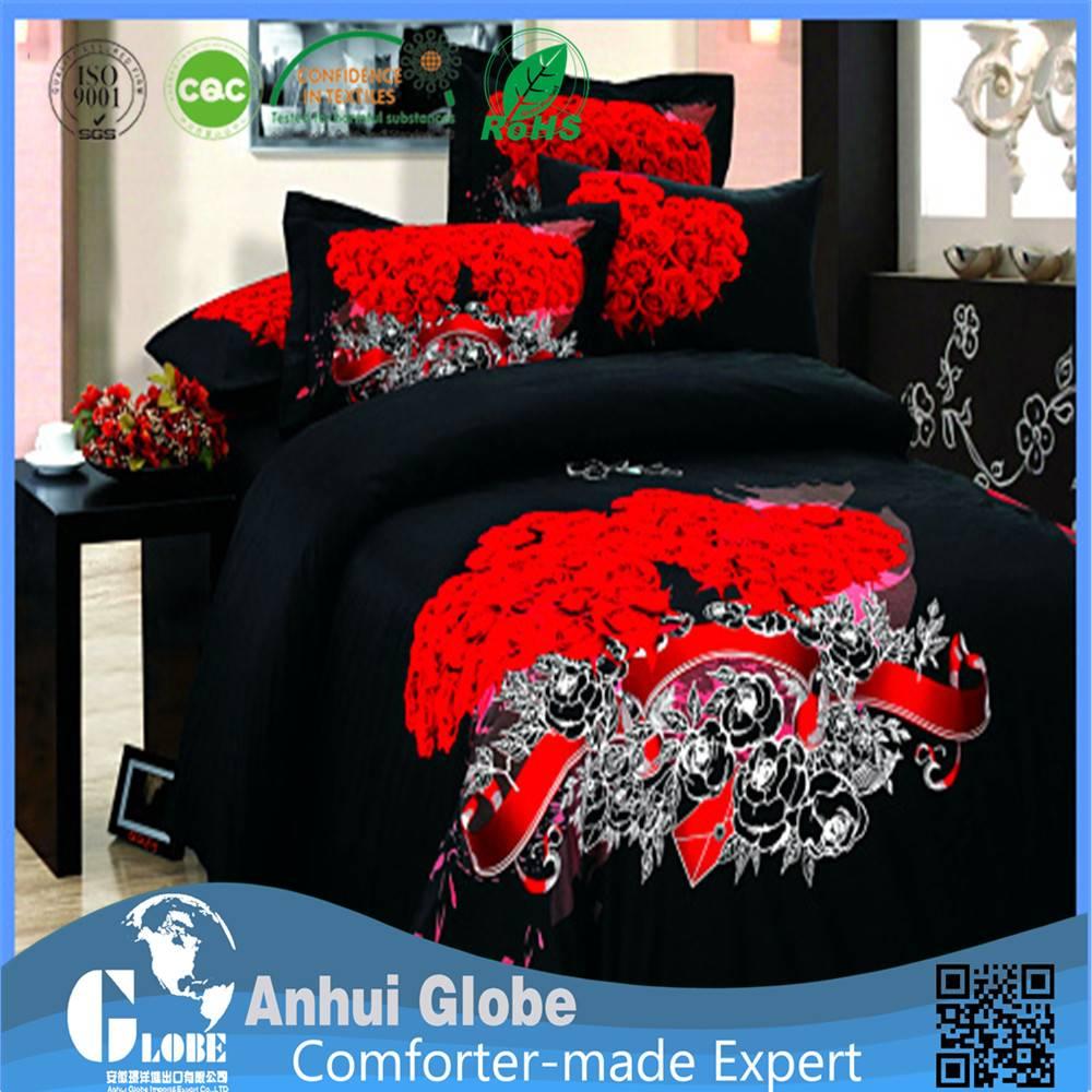 red black comforter sets