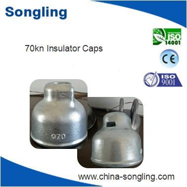 zinc coated steel cap as insulator fittings