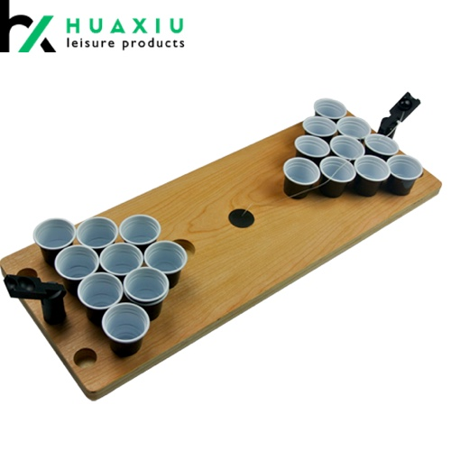 Plastic Wood Mini Beer Pong Table Drinking Game Table Portable Game Table