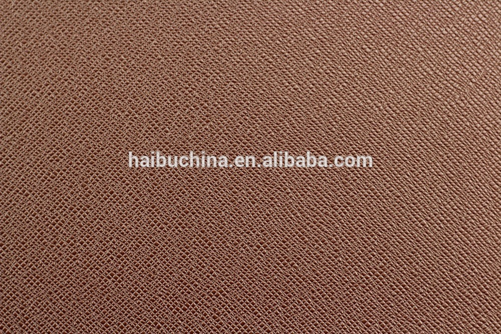 Wholesale PVC Synthetic Leather with Cross Grain for Shoe