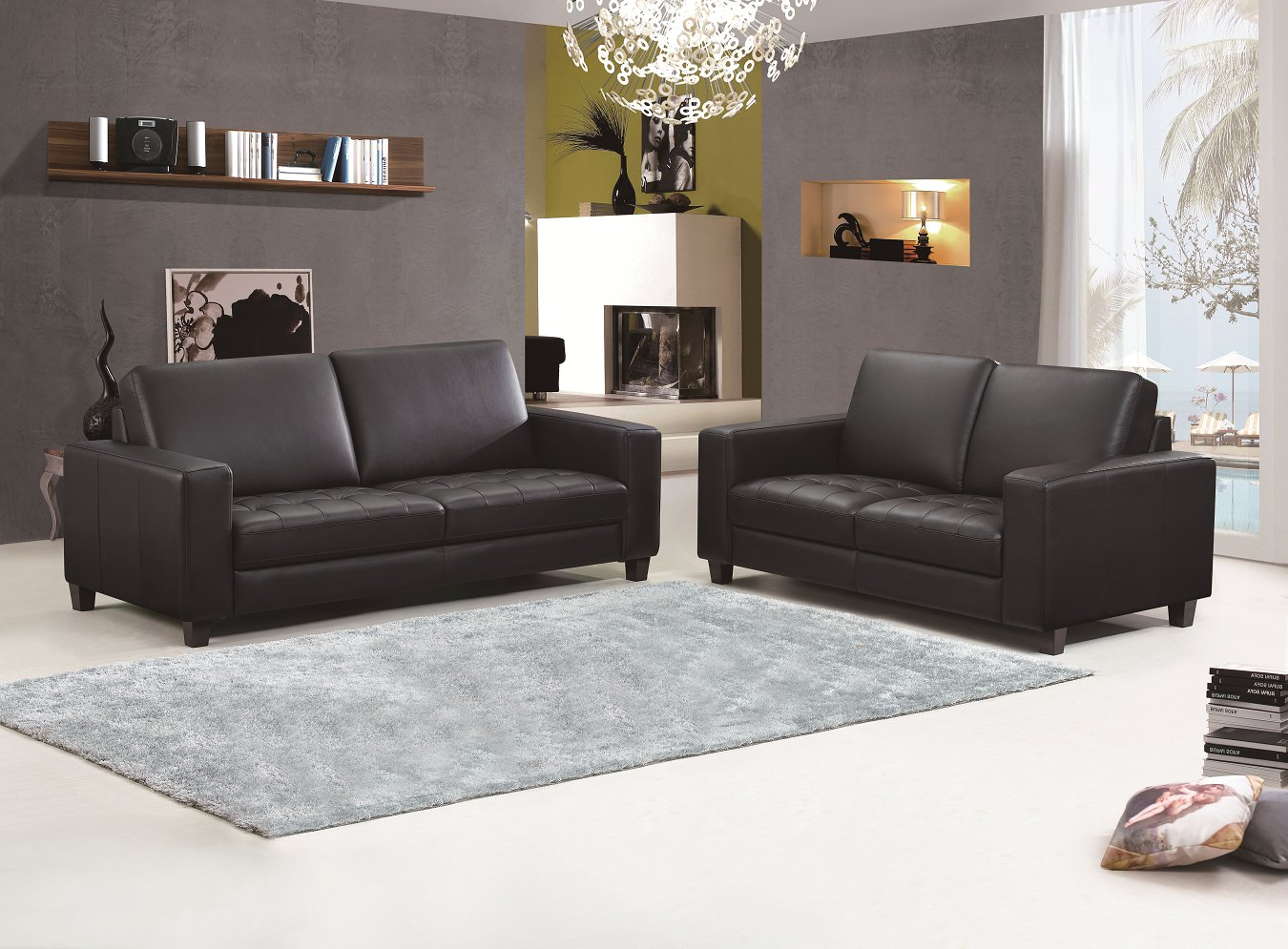 Sectional Sofa,Genuine Leather Sofa Combination
