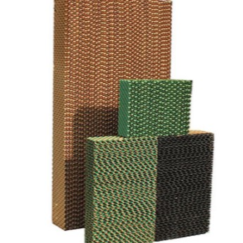 Honeycomb evaporative cooling pads for farms