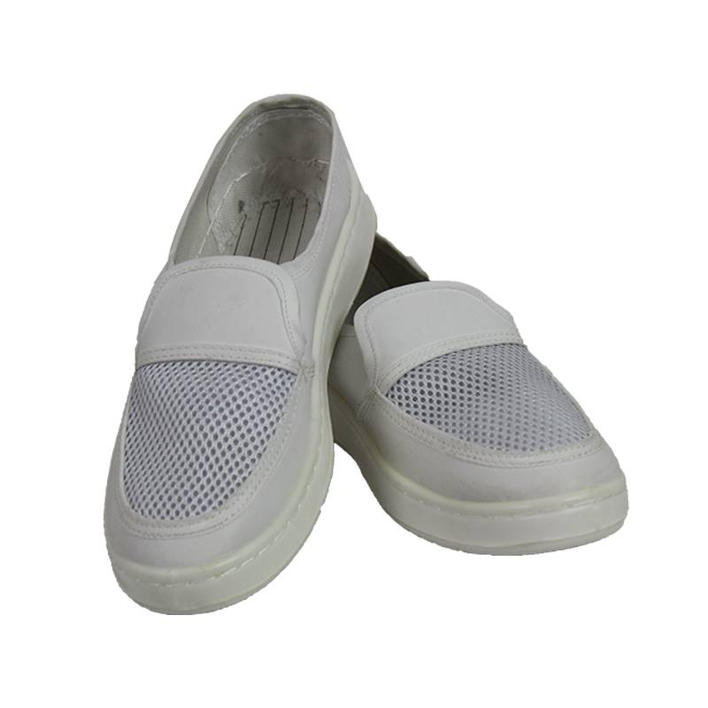 PU Leather Material Cleanroom Anti-static Shoe Supplier