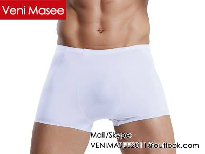 2015 Hot Selling Veni Masee New Design Fashion Sexy Ice Silk Boxer Shorts Men Underwear OEM/ODM Whol