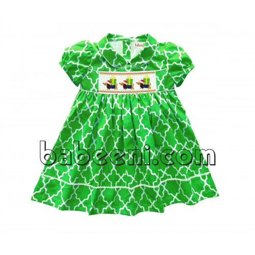 Cute dog and gift hand smocked dress