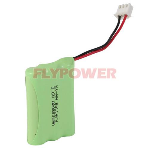 3.6V AAA800mAh Ni-MH Rechargeable Battery Pack (3S of FH-AAA800)