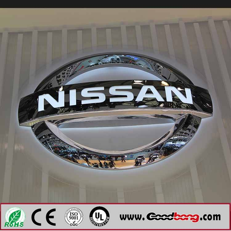 Advertising outdoor thin acrylic 3D custom export car logo for wholesale in led light box