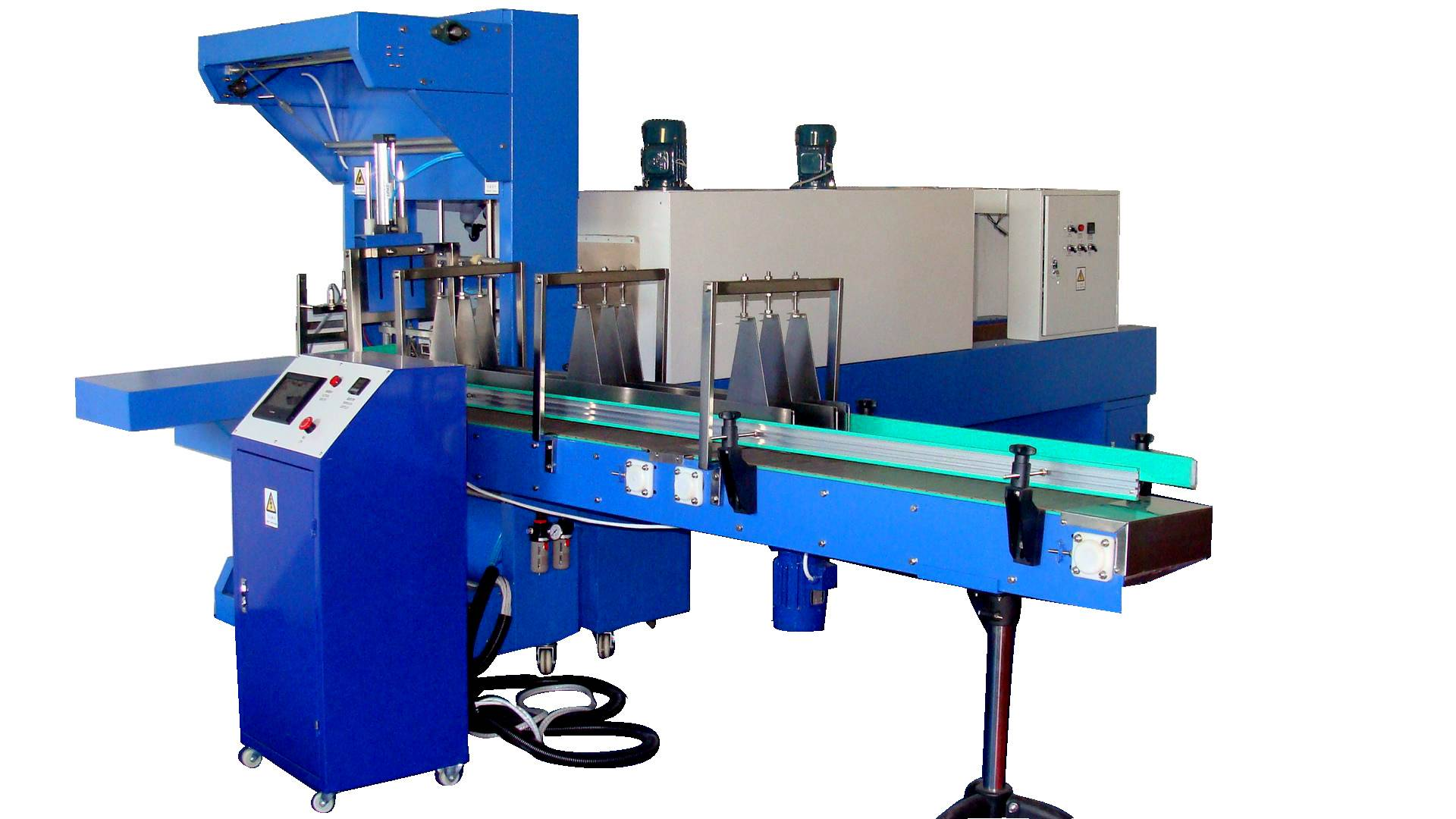 Automatic heat shrinkable film packaging machine